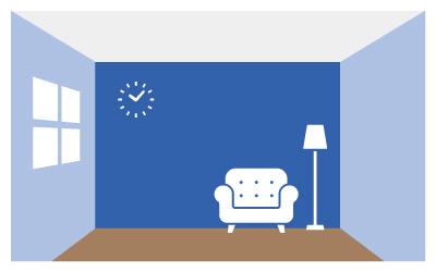 寒色系の部屋