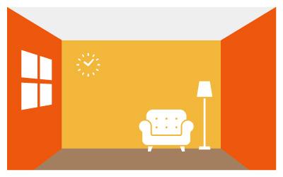 暖色系の部屋